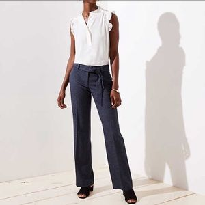 LOFT Marisa trouser with tie belt
